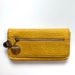 Steve Madden faux croc wallet  mustard yellow